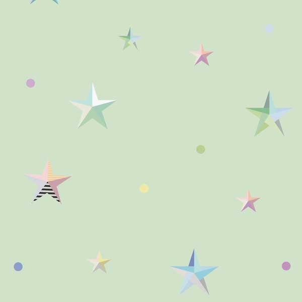 4661 Green Stars Kids VELUX