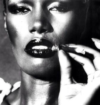 Grace Jones Smoking