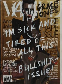 Grace Jones Bullshit Issue Fan Art Vogue Brandalism