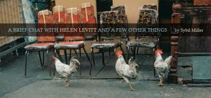 Helen Levitt brief chat by sybil miller