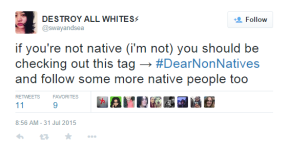 #DearNonNatives