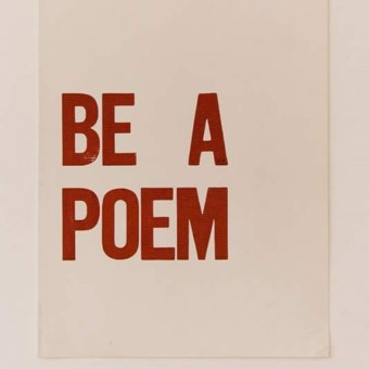 Be A Poem #NationalPoetryDay