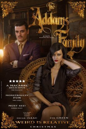 Addams Family Poster with Oscar Isaac & Eva Green