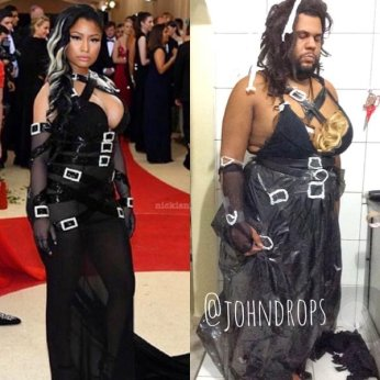 johndrops recreates Nicki Minaj MetGala look