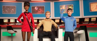 Uhura Kirk Spock Commemorative Dolls from Barbie Mattel