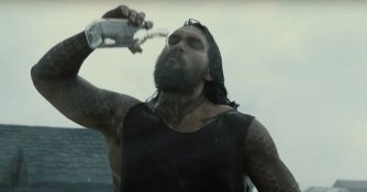 Jason Momoa SDCC Justice League Trailer Screencap