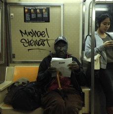 Tagged NYC Subway Car BlackLivesMatter Micheal Stewart