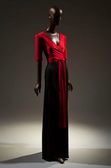 Scott Barie Evening Gown FIT Museum Black Designers