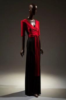 Scott Barie Evening Gown FIT Museum Black Designers