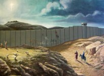 Mary and Joseph encounter a wall