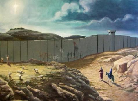 Mary and Joseph encounter a wall