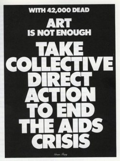 Art is Not Enough-collective action-1988 Gran Fury