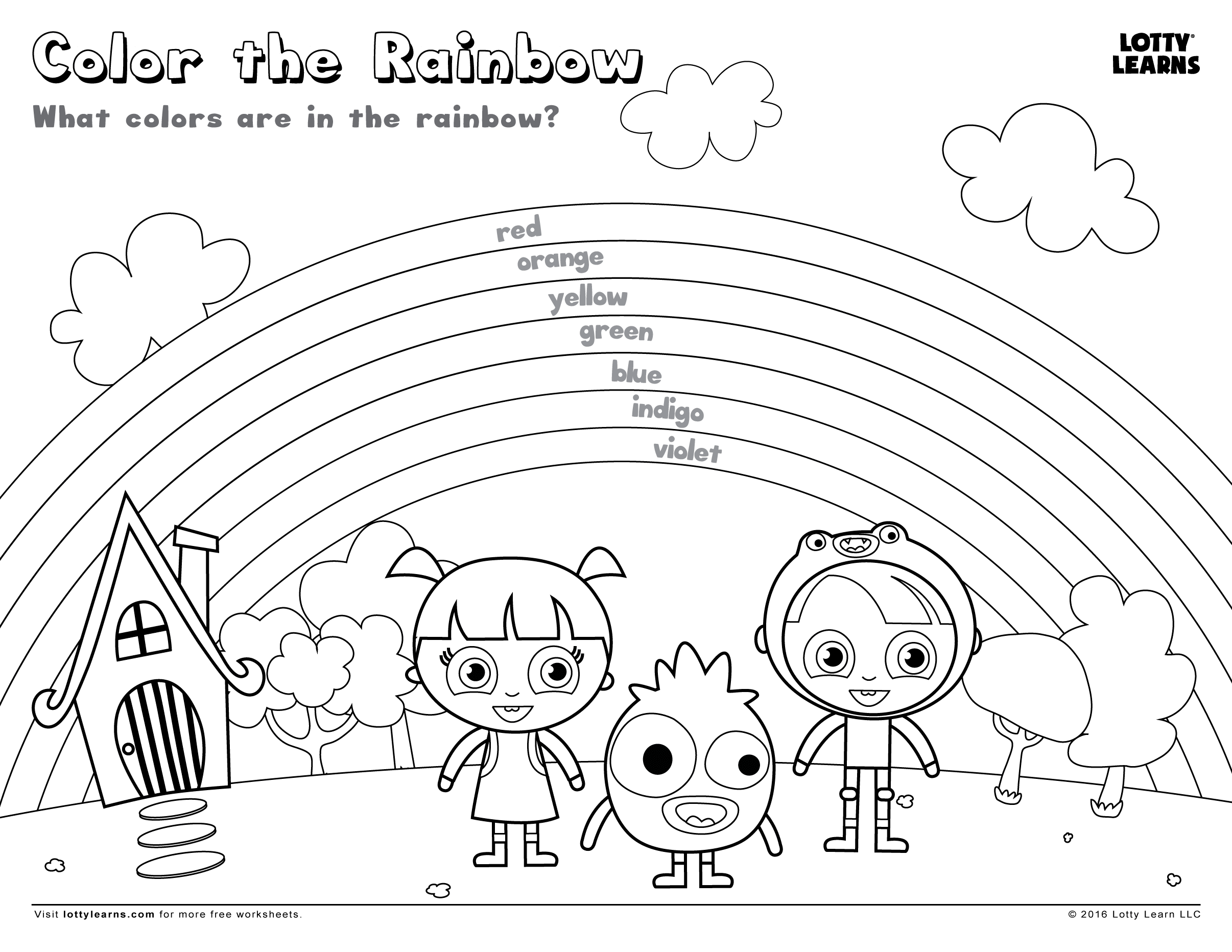 Worksheet Preschool Bugs Rainbows