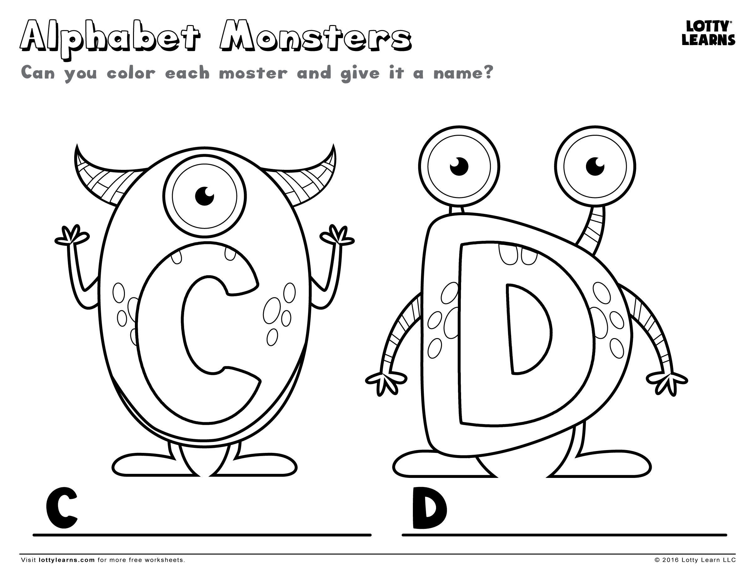 Monster Circle Worksheet
