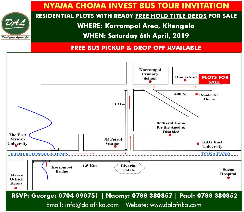 Nyama Choma invest bus tour Kitengela