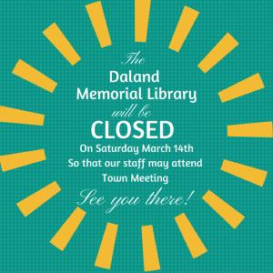 Daland Memorial Library Closed