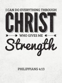 everything through christ who gives me strength