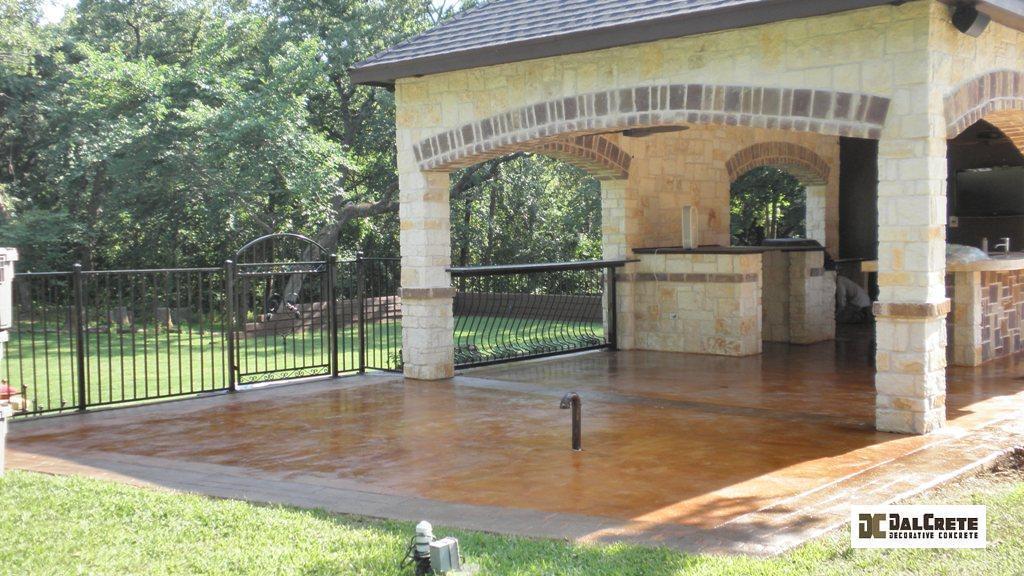 stamped decorative concrete patios