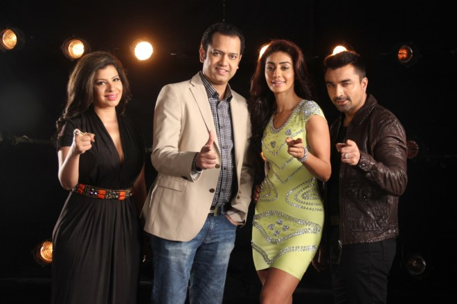Sambhavna Seth, Rahul Mahajan, Mahek Chahal, and Ajaz Khan_ the Challengers on Bigg Boss Halla Bol.