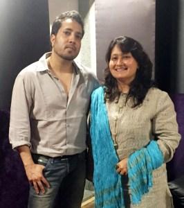 Singer Mika Singh with writer-director-producer-music composer Fauzia Arshi of Hogaya Dimaagh Ka Dahi.