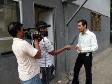 Bollywood publicist during a TV interview.