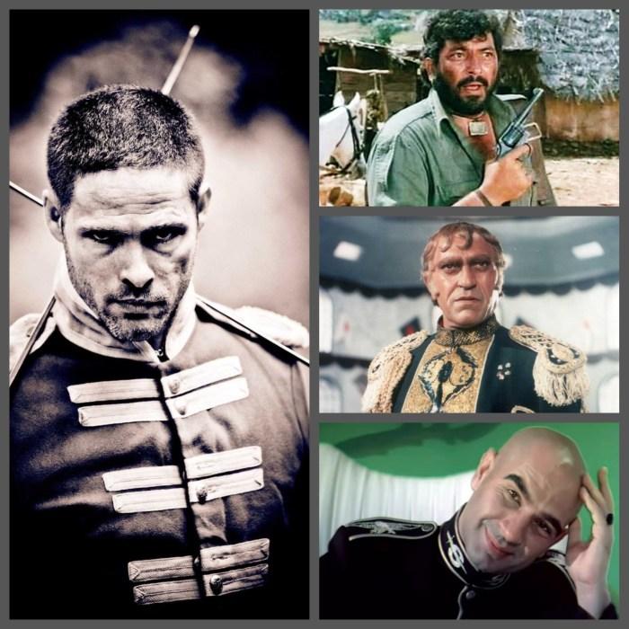 Alex Reece, Amjad Khan as Gabbar Singh in Sholay, Amrish Puri as Mogambo in Mr India and Kulbhushan Kharbanda as Shakaal in Shaan.