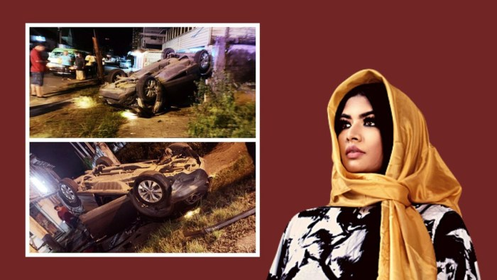 Kristal Inshan car tragedy. - Collage 1