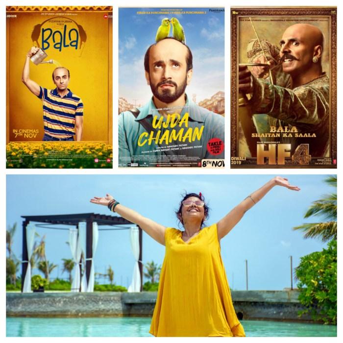 Bala poster, Ujda Chaman poster, Houseful poster, Preetisheel Singh. (Poster images courtesy - Internet)
