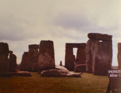 aged photo of stonehenge circa 1982-1983