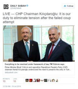 CHP head meeting with PM Turkey