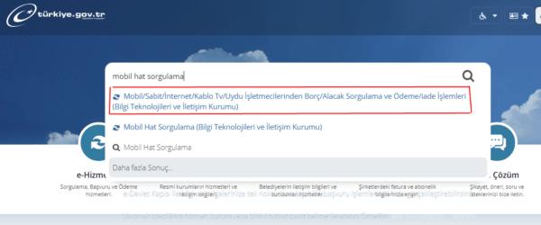 الاستعلام عن خطوط الهاتف في تركيا