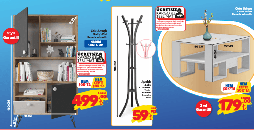 تخفيضات الشوك ŞOK على ماكينة خياطة ولوازم منزلية