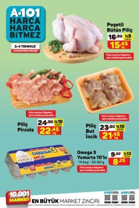 تخفيضات ماركت يوزبير A101 على اللحوم والدجاج
