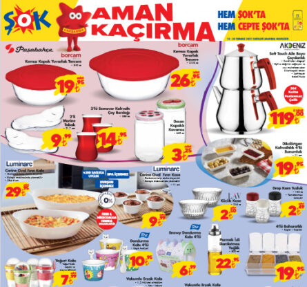 تخفيضات متجر الشوك ŞOK على أدوات مطبخ