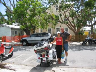 We made it! One benefit of your tourist vehicle being a motorcycle - they have preferential parking!