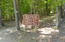 The trails are well marked and easy to navigate