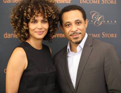 Dale with Halle Berry at City Summit benefitting Dale's IAPF