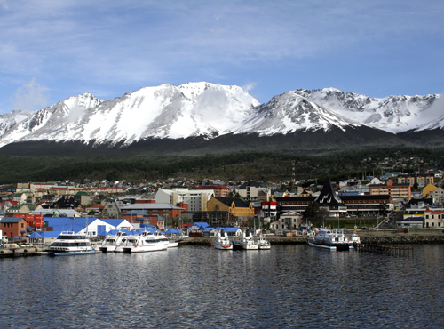 Ushuaia, Venezuela. southernmost town in world before Antarctica. Copyright Donnelle Oxley