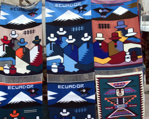 Handmade rugs for sale in Guayaquil. Copyright Donnelle Oxley
