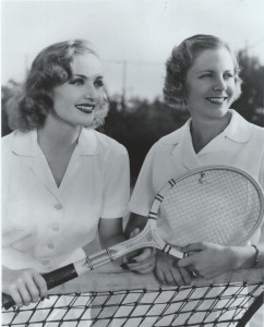 Film star Carole Lombard and tennis star Alice Marble in the 1930s