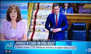 Ana Rosa acusa al gobierno de ocultar 16.000 muertos.