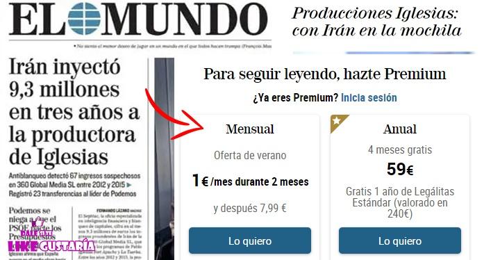 Diario El Mundo hace Clickbait con noticias de dudosa credibilidad
