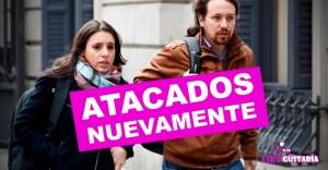 Indiferencia ante el acoso: Arrojan objetos y gritan repudiables ofensas a las afueras del domicilio de Pablo Iglesias e Irene Montero