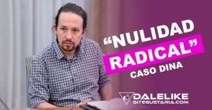 """""""Nulidad radical"""": Pablo Iglesias introduce recurso de apelación para solicitar se anule su investigación en caso """"Dina"""""""