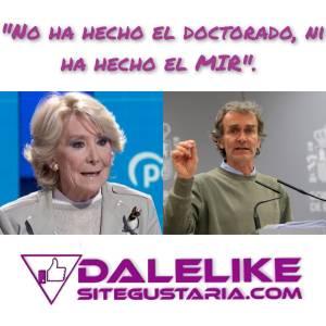 Esperanza Aguirre critica a Fernando Simón y elogia a Ayuso y Vox.