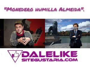 Juan Carlos Monedero saca los colores a Almeida que miente en directo.