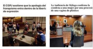 LA POLÉMICA   Justicia española declara al franquismo «libertad de expresión» y a las vaginas de plástico una grave ofensa (+FOTOS)