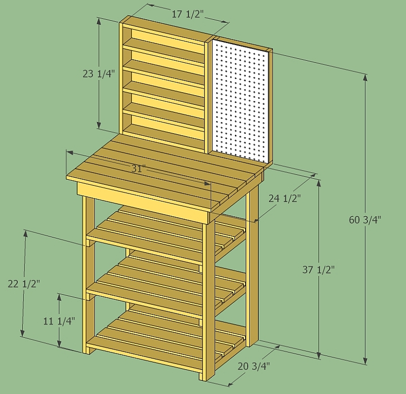 workbench shelf plans