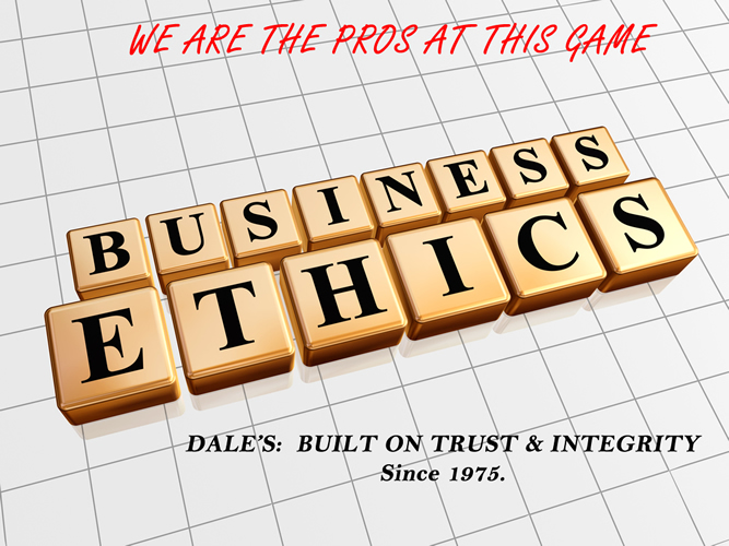 BUSINESS ETHICS AT DALES