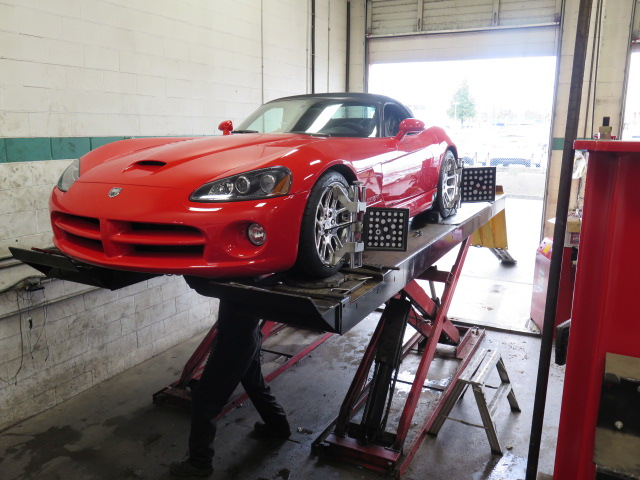 Dodge Viper getting a new set of BC Racing coilovers